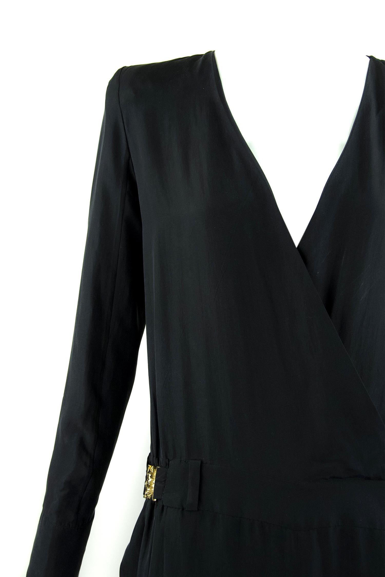 c02581f21157 Balmain Silk Long Sleeve Jumpsuit - Size FR 34 For Sale at 1stdibs