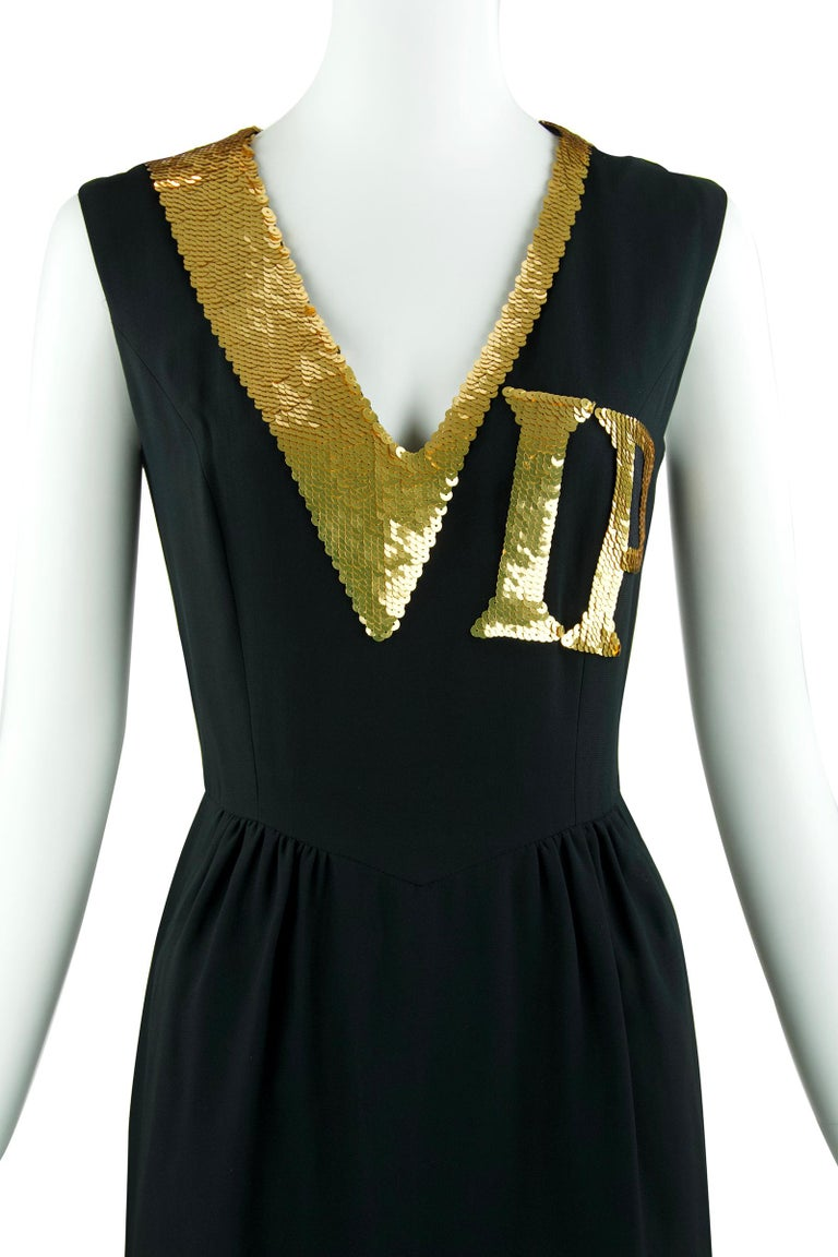 50970df9b41 Vintage Moschino VIP Sequin Dress - Size XS In Excellent Condition For Sale  In Newport
