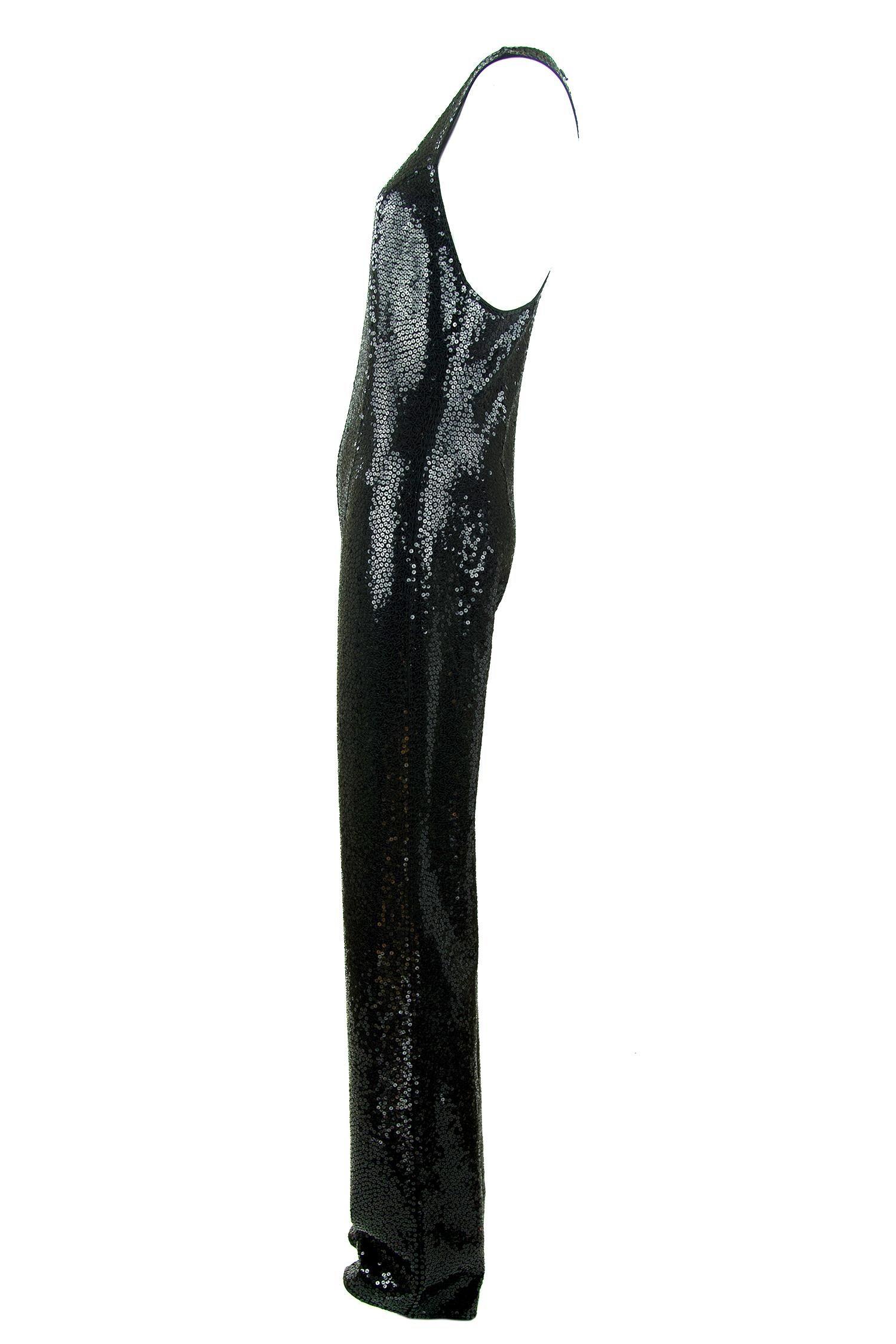 d255a4153df5c9 Michael Kors Schwarzer Pailletten Overall Jumpsuit - Größe 2 im Angebot bei  1stdibs
