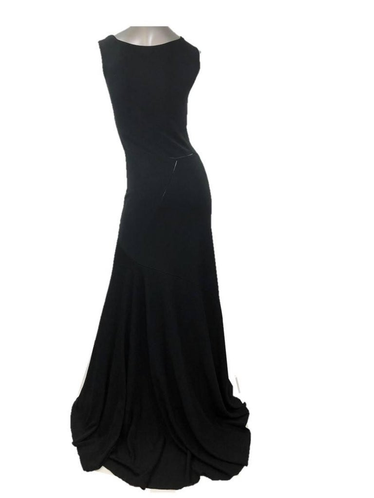 Azzedine Alaia Jet Black Sleeveless Gown, Medium For Sale at 1stdibs