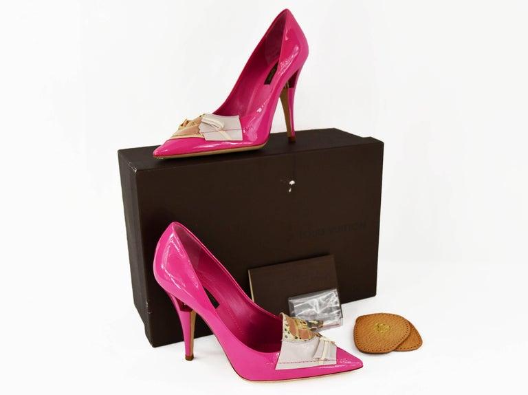 da01178456a4 Louis Vuitton After Dark Riviera Fuchsia Patent Leather Pumps