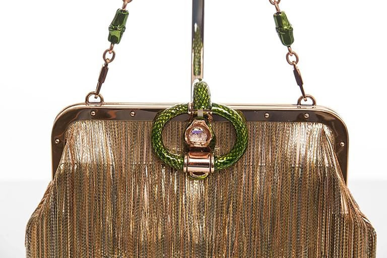 Women's Gucci Evening Bag by Tom Ford for Summer 2004, Jeweled Dragon Frame Clutch For Sale