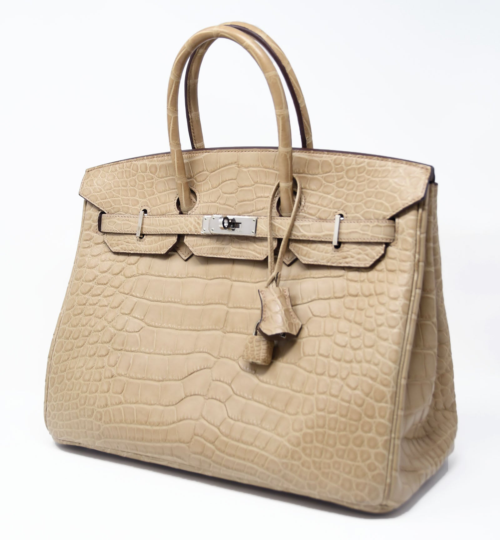 444de5638a ... where can i buy hermes birkin bag 35cm natural alligator with palladium  hardware for sale at