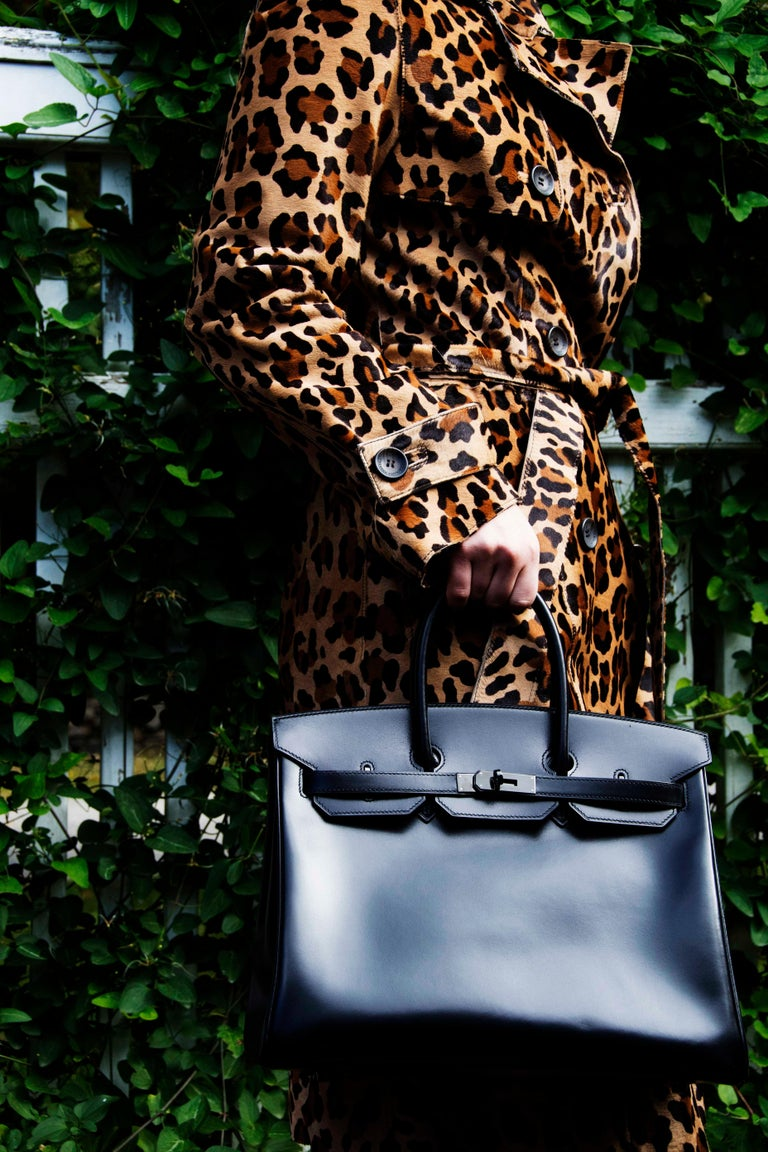 Extremely coveted brand new Collector's edition from 2011, So Black box calf Hermes 35cm Birkin with black Hardware. Every feature of this bag from the leather down to the hardware and keys is all black. It comes complete with black Hermes box,