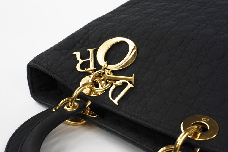 Women's Lady Dior Large Cannage Nylon Bag For Sale