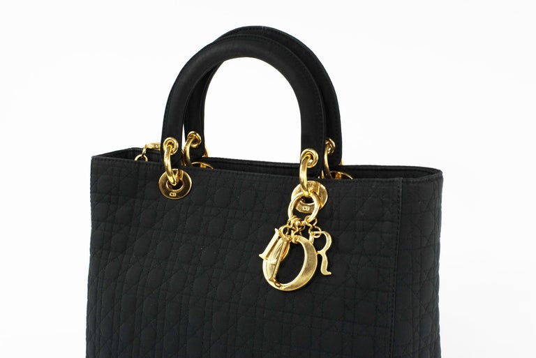 Lady Dior Large Cannage Nylon Bag For Sale 1