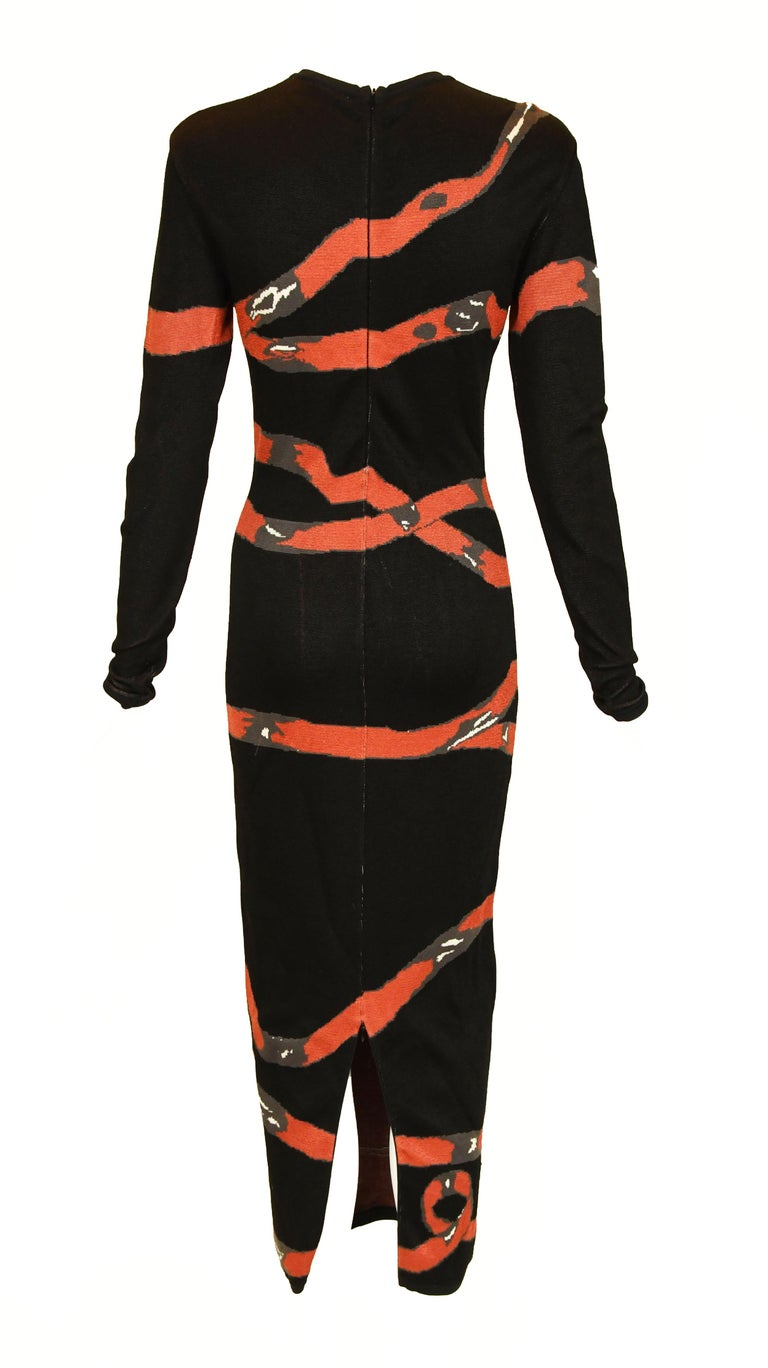 Black Vintage Alaia Bow Print Dress - Size XS For Sale