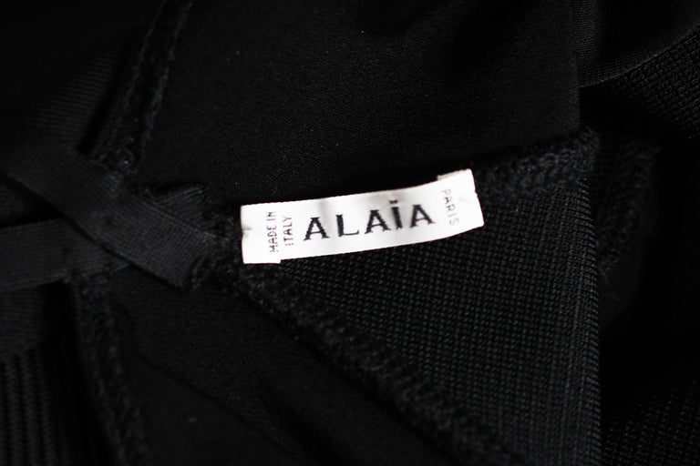 Vintage Alaia Fitted Black Strappy Dress - Size S For Sale 2