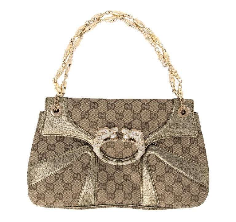 953cd26988c Gucci by Tom Ford Jeweled Dragon Shoulder Bag at 1stdibs