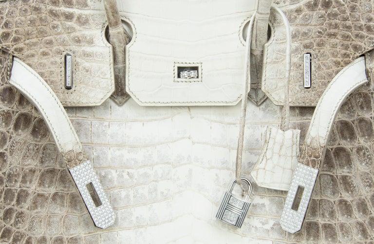 Hermès Birkin Bag 30cm Himalayan Diamond Encrusted  & Matching Kelly GM Bracelet For Sale 5