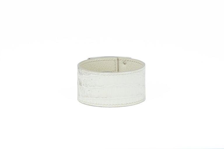 Hermès Birkin Bag 30cm Himalayan Diamond Encrusted  & Matching Kelly GM Bracelet For Sale 11