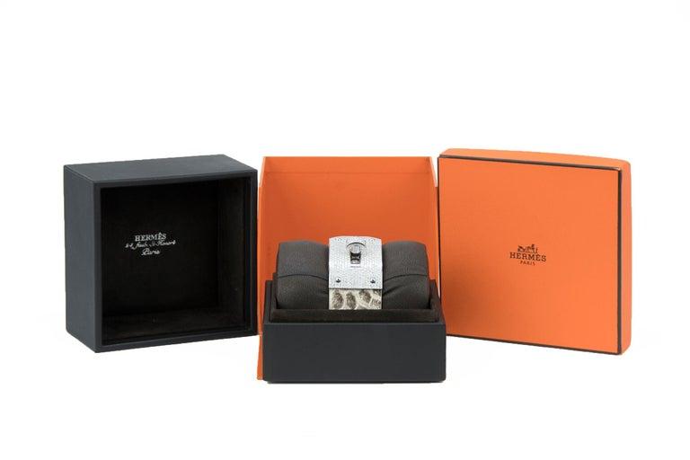 Hermès Birkin Bag 30cm Himalayan Diamond Encrusted  & Matching Kelly GM Bracelet For Sale 8