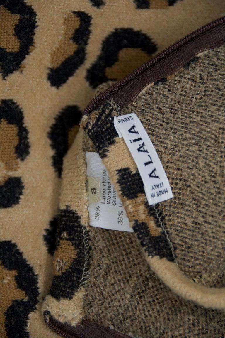 Alaia Vintage Leopard Pencil Skirt 1991 - Size S For Sale 1