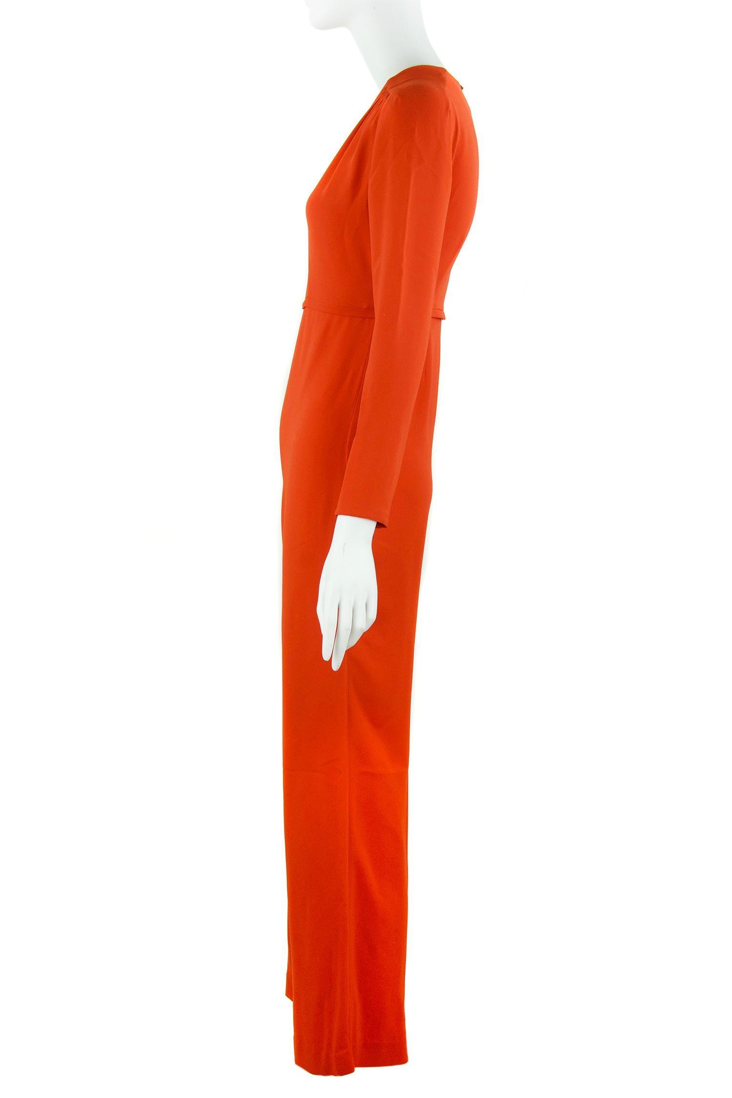 67950bc18a3 Stella McCartney Burnt Orange Long Sleeve Jumpsuit - IT 36 For Sale at  1stdibs