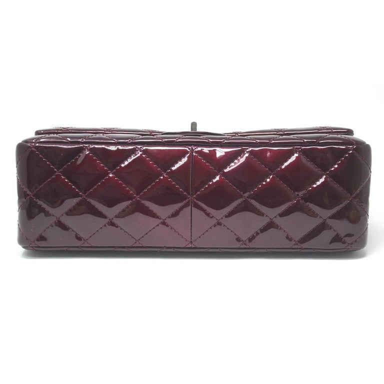 1705e06d8897 Chanel Burgundy Reissue Patent Leather 2.55 Classic Handbag at 1stdibs