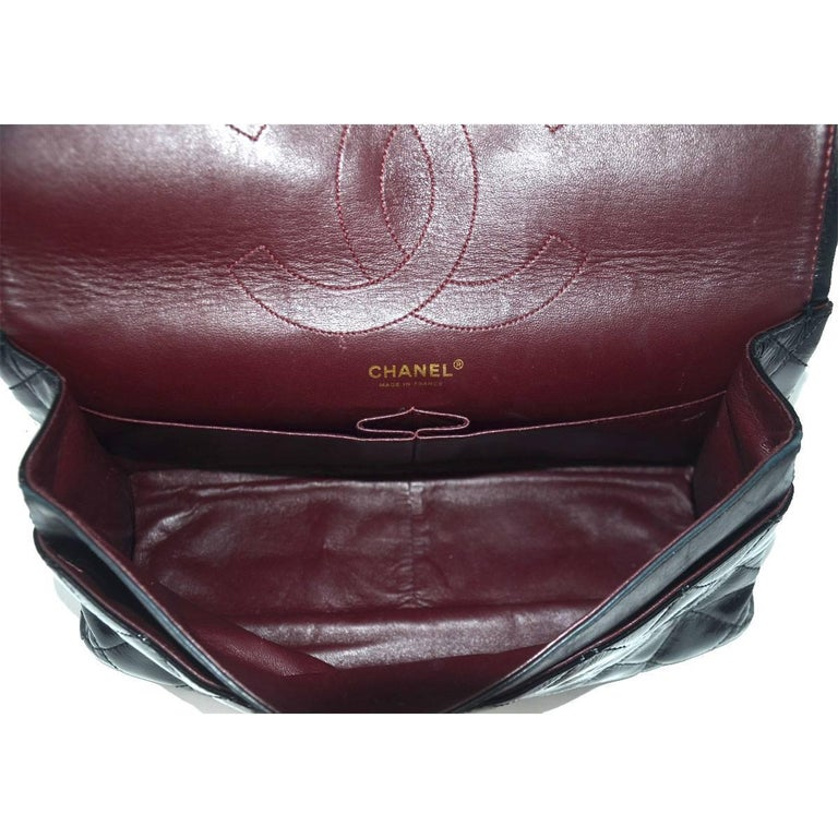 Chanel Re-Issue Black Patent Leather Handbag For Sale 3
