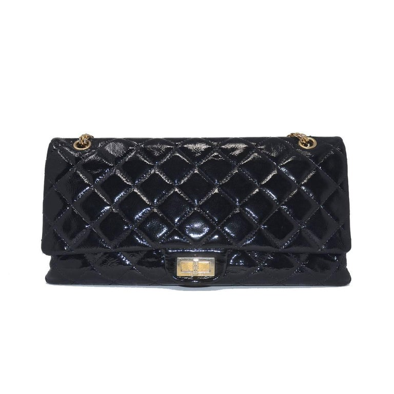 Company-Chanel Model-Re-Issue Patent Handbag Color-Black Date Code-11096477 Material-Leather Measurements-7.5