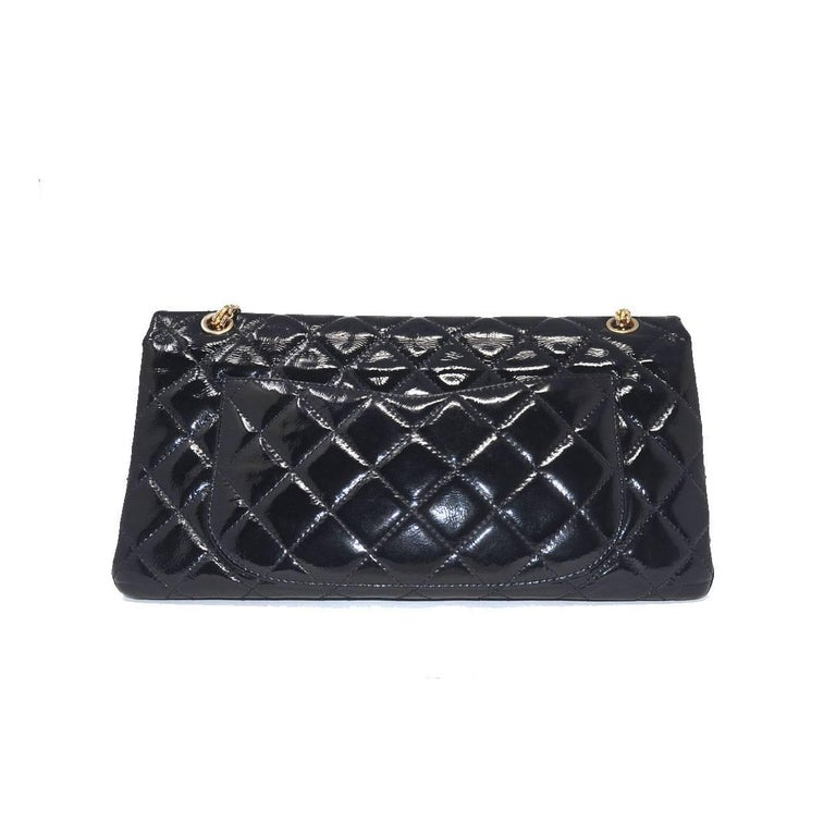 Chanel Re-Issue Black Patent Leather Handbag For Sale 1