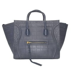 Celine Nubuck Phantom Navy Handbag