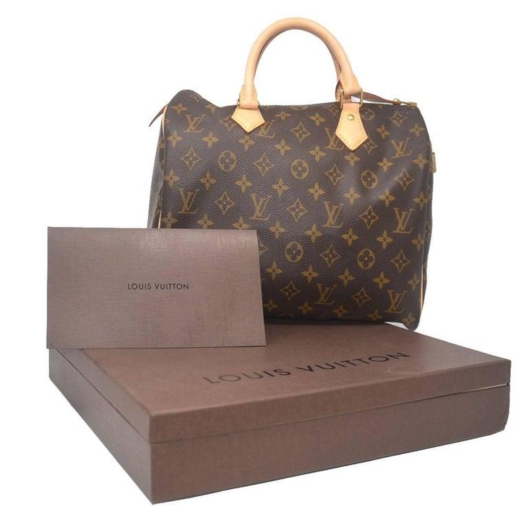 Louis Vuitton Speedy 30 Monogram Handbag With Receipt Dust Bag and Original  Box For Sale 5 4005f25c766