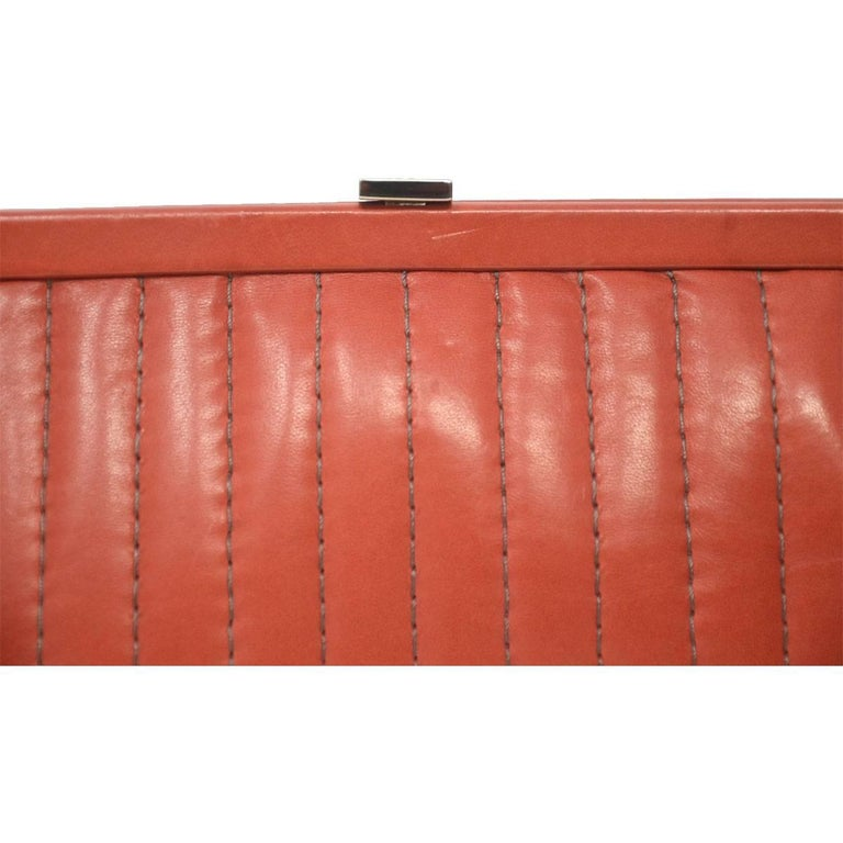 Chanel Red/Pink Small Clutch Handbag For Sale 1