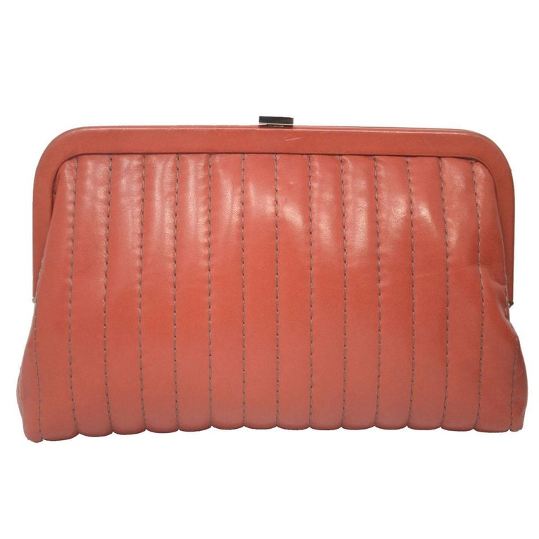 Company-Chanel Model-Small Clutch Color-Red /Pink Date Code-10801419 Material-Leather Measurements-11.5