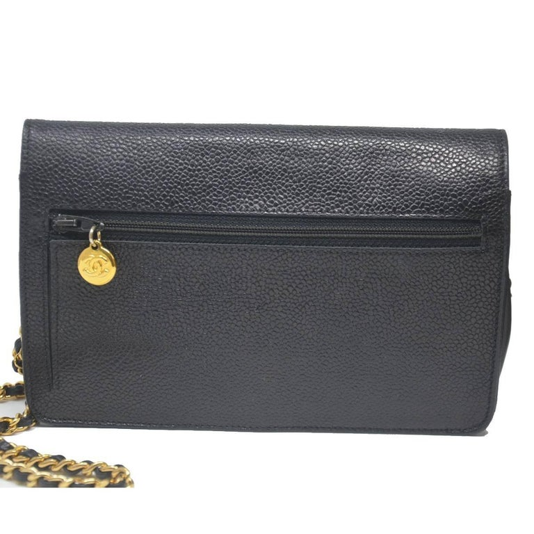 2a5a0348b3ccb3 Chanel WOC Black Caviar CC Gold Hardware With Card For Sale at 1stdibs