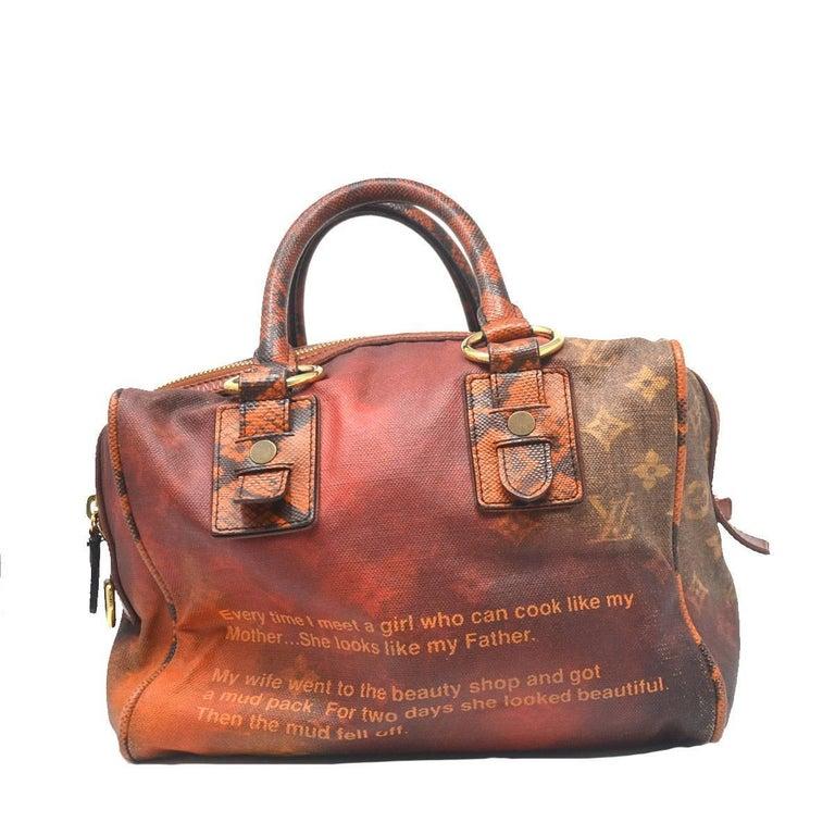 Louis Vuitton Richard Prince Mancrazy Printemps Jokes Handbag At 1stdibs