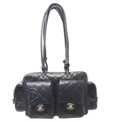 Chanel Cambon Reporter Black Leather Shoulder bag