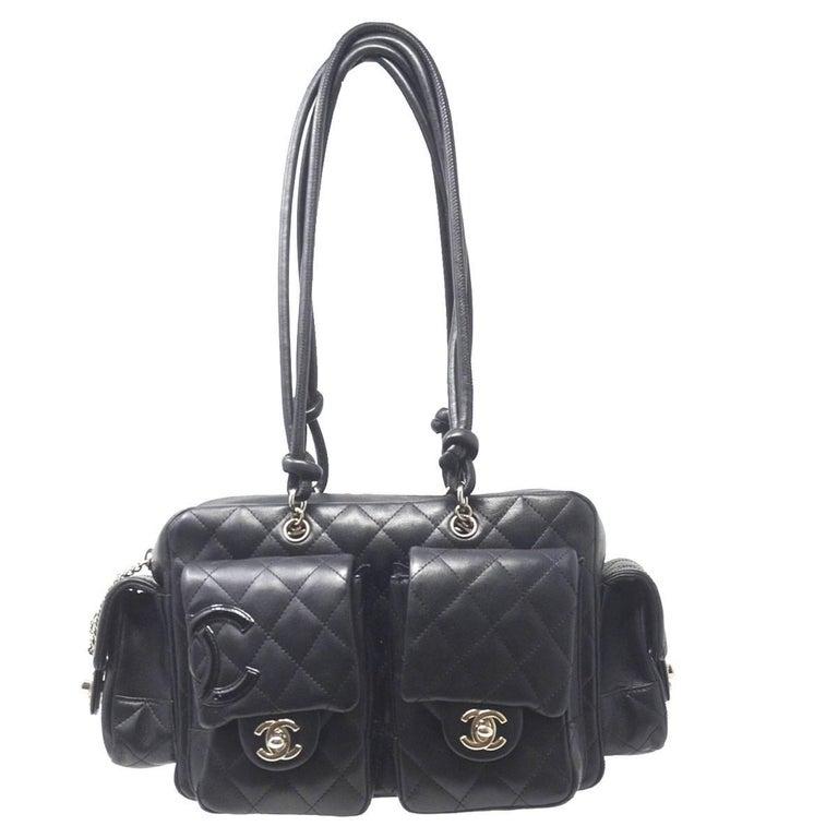 Chanel Cambon Reporter Black Leather Shoulder bag