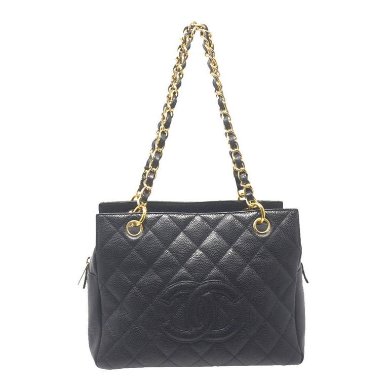 Chanel Black Caviar Petite Timeless Handbag