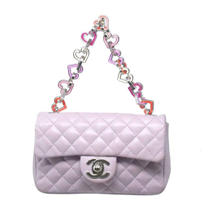 Chanel Mini Lilac Valentine Handbag