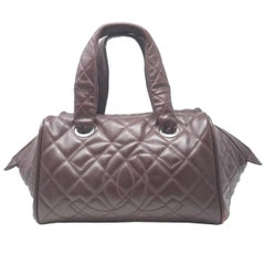 Chanel Burgundy Large Satchel Handbag