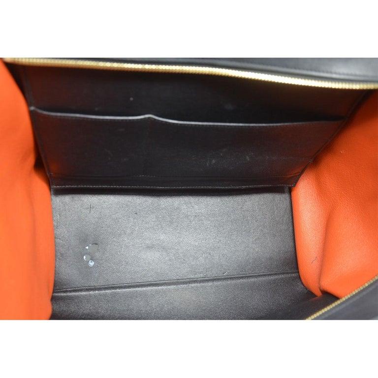 Celine Trapeze Medium Tri-Color Suede and Leather Handbag For Sale 5