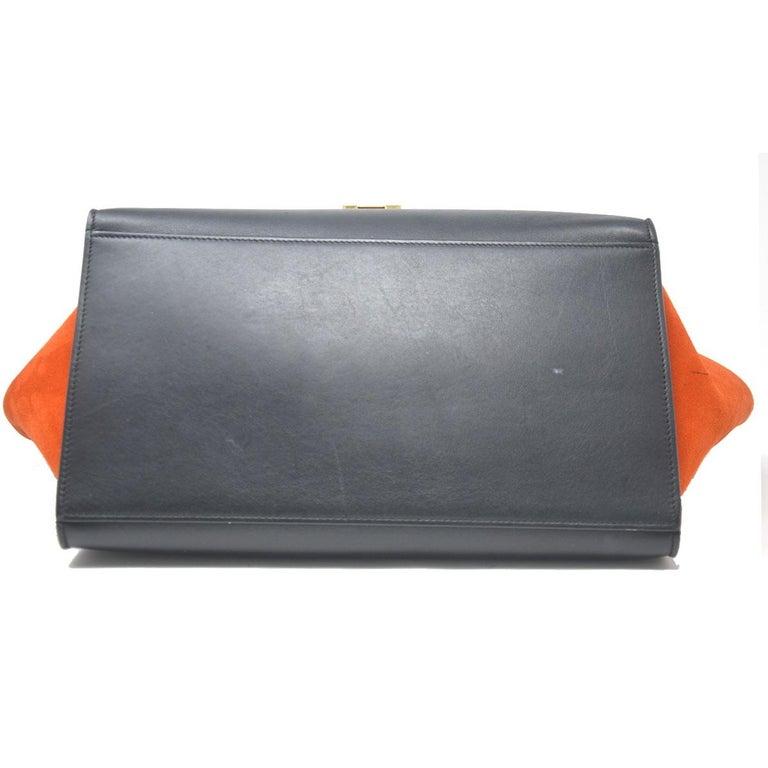 Celine Trapeze Medium Tri-Color Suede and Leather Handbag For Sale 1