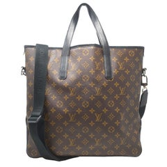 Louis Vuitton Monogram Kitan Macassar Tote Shoulder Bag