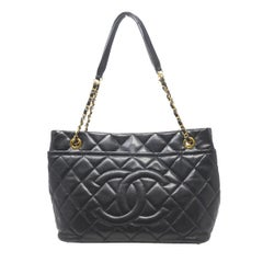Chanel Caviar Quilted GHW Timeless CC Soft Tote Black Shoulder Bag