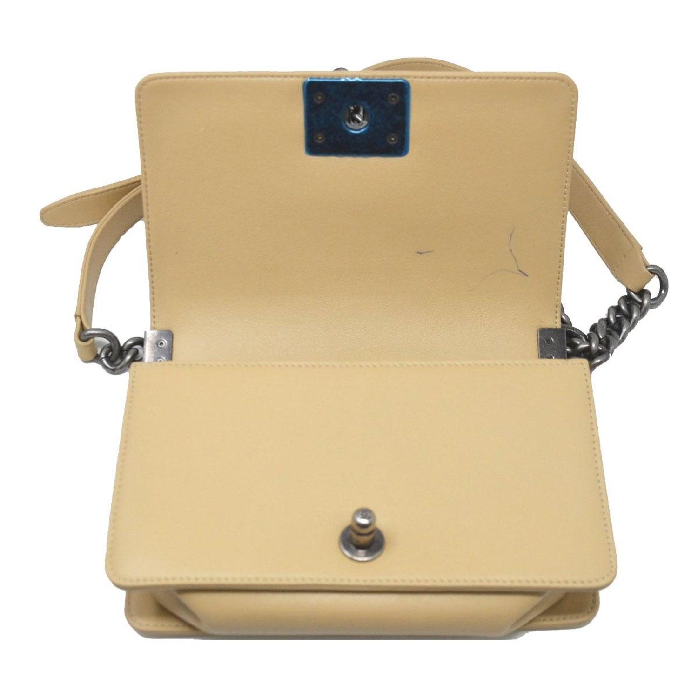 8745bbaf8b8a Chanel Small Beige Cordoba Dallas Flap Boy Bag Handbag at 1stdibs