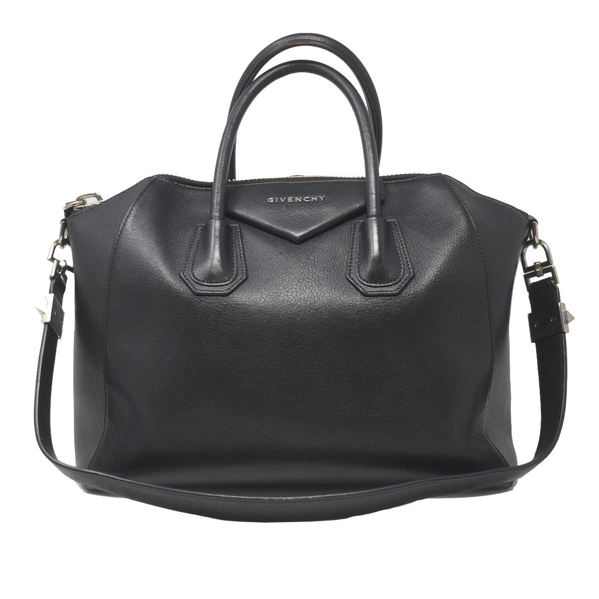 Givenchy Antigona Medium Black Leather Tote Handbag