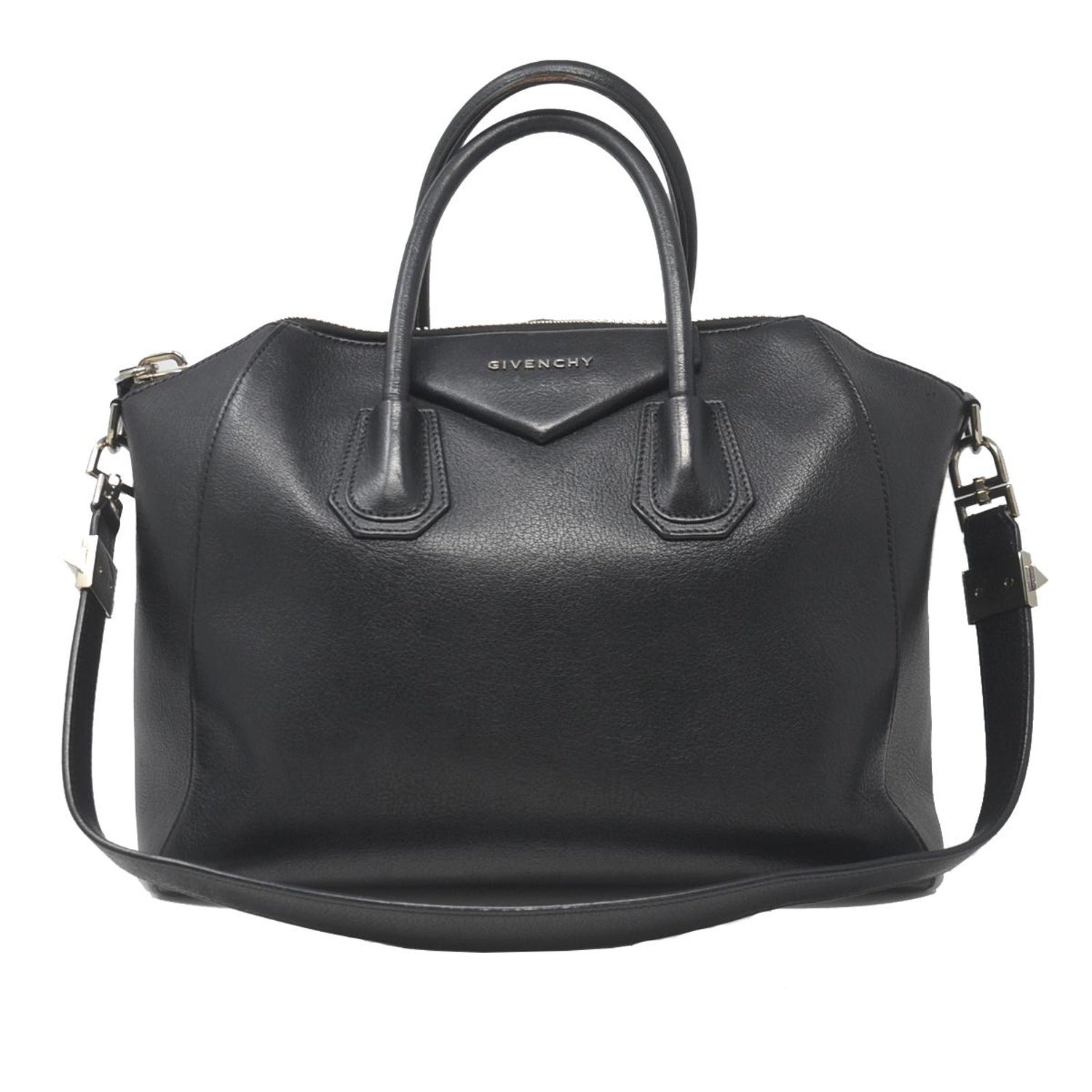 62f4e8cfc2 Givenchy Antigona Medium Black Leather Tote Handbag For Sale at 1stdibs