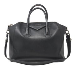 Givenchy Antigona Medium Black Leather Tote Handbag