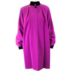 Valentino fuchsia wool coat, circa 1980