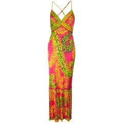 Pucci multicolour cocktail maxi dress, circa 1970