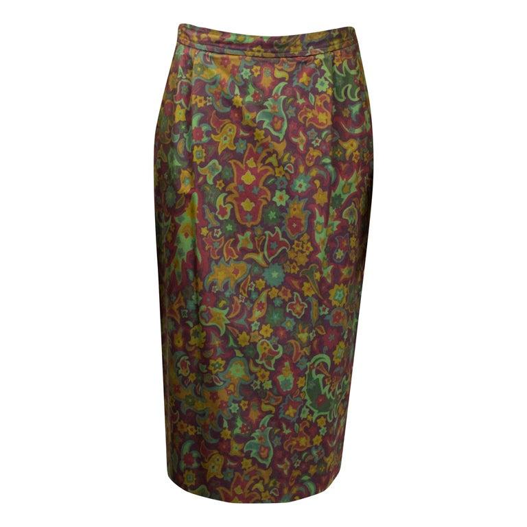Yves Saint Laurent Rive Gauche Safari style Skirt, circa 1970