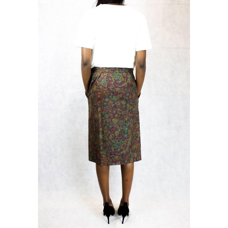 Brown Yves Saint Laurent Rive Gauche Safari style Skirt, circa 1970 For Sale