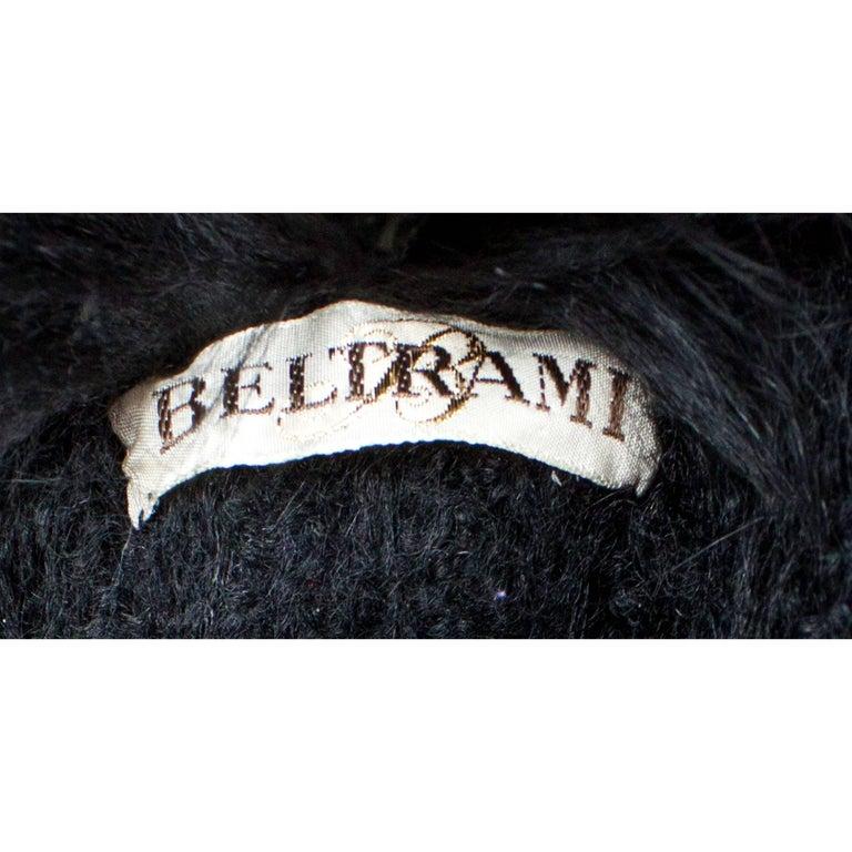 Beltrami Seide Wolle und Schlangenleder Mantel mit Aufgebauschten Ärmeln, circa 1980 8