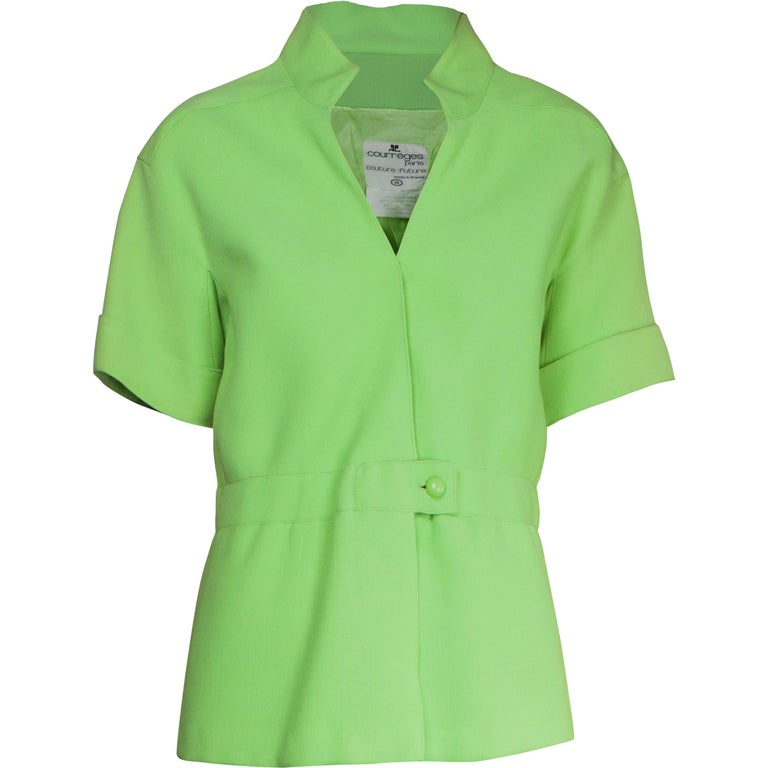 Andrè Courreges Early lime green tunic, circa 1967