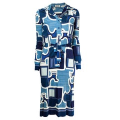 Hermès delicate silk jersey dress, circa 1970s