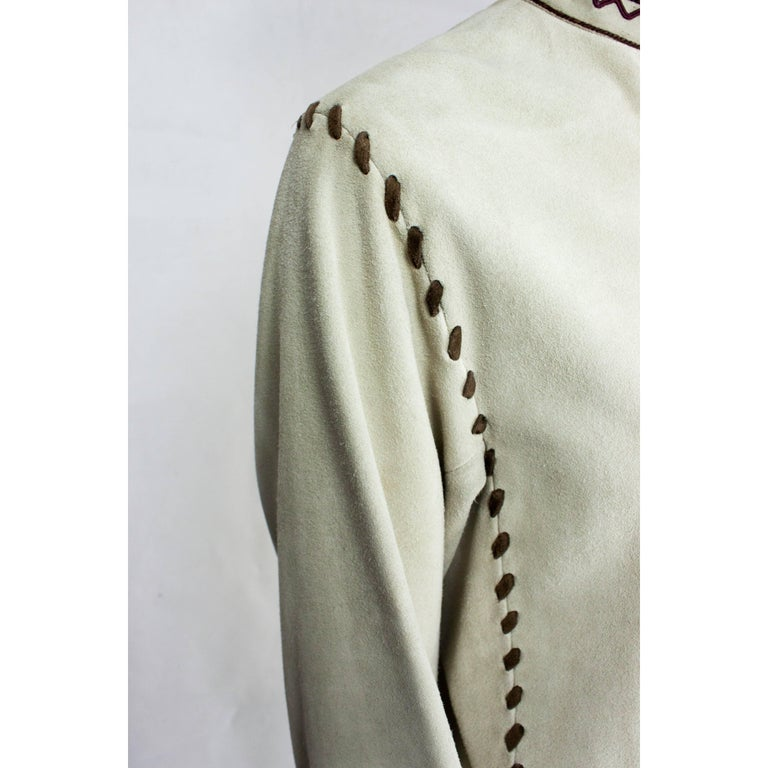 Yves Saint Laurent suede Cossack inspired jacket, circa 1976 For Sale 2