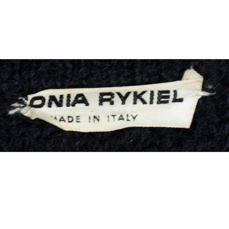Sonia Rykiel Early knitted black wool coat, circa 1960s 9